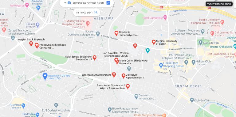 לובלין מפה wajdeloty 4